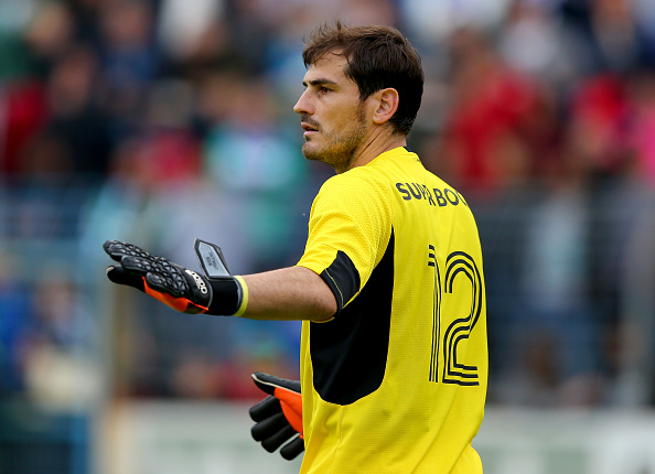 GUETERSLOH, GERMANY - JULY 27:  Iker Casillas, goalkeeper of Porto looks on during the internatinal friendly match between FC Schalke 04 and FC Porto at Heidewaldstadion on July 27, 2015 in Guetersloh, Germany.  (Photo by Martin Rose/Bongarts/Getty Images)