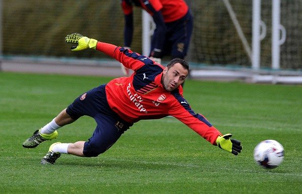ST ALBANS, ENGLAND - SEPTEMBER 22: David Ospina of Arsenal during a training session at London Colney on September 22, 2015 in St Albans, England. (Photo by Stuart MacFarlane/Arsenal FC via Getty Images)