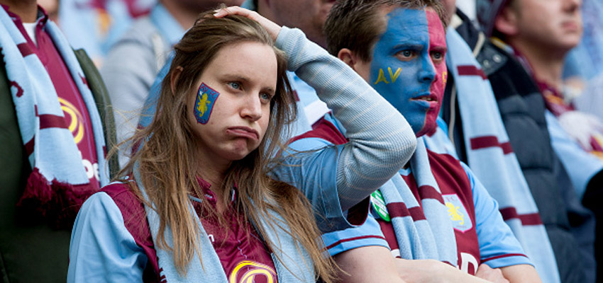 LONDON, ENGLAND - MAY 30 : Aston Villa fans during the FA Cup Final match between Aston Villa and Arsenal at Wembley Stadium on May 30, 2015 in London, England.  (Photo by Neville Williams/Aston Villa FC via Getty Images)