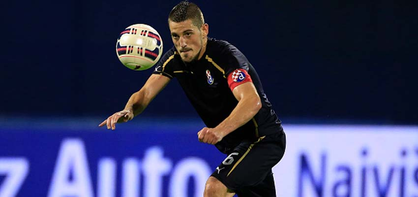 ZAGREB, CROATIA - JULY 28: Arijan Ademi of FC Dinamo Zagreb in action during the UEFA Champions League Third Qualifying Round 1st Leg match between FC Dinamo Zagreb and FC Molde at Maksimir stadium in Zagreb, Croatia on Tuesday, July 28, 2015. (Photo by Srdjan Stevanovic/Getty Images)